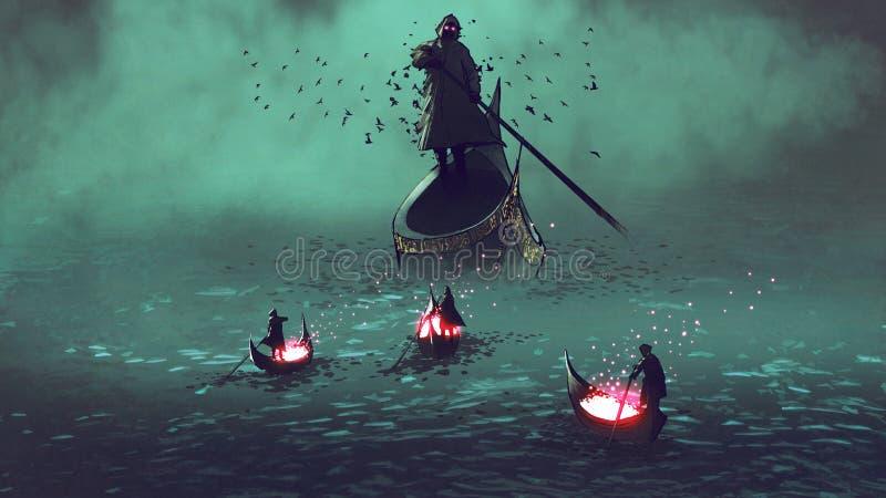 Encontre o Ceifador ilustração do vetor