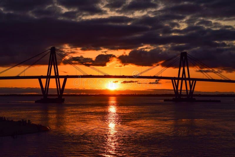Encontre o por do sol em Corrientes foto de stock royalty free