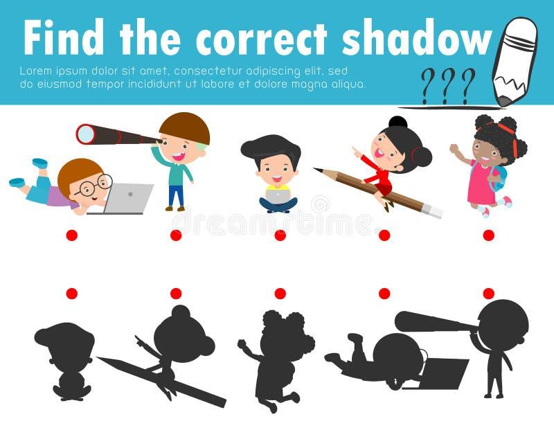 Encontre a sombra correta E ilustração royalty free