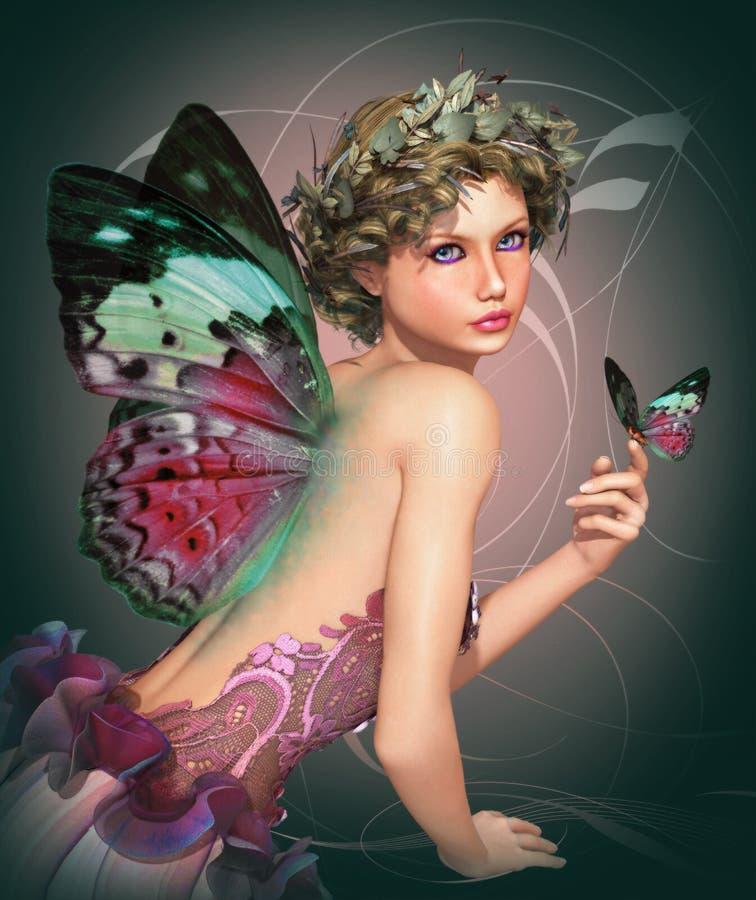 Encontre uma borboleta ilustração royalty free