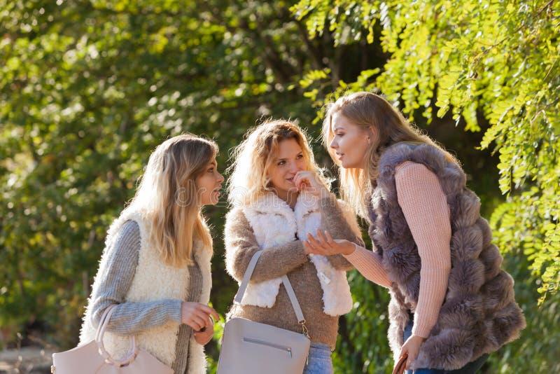 Encontro das mulheres exterior imagem de stock royalty free