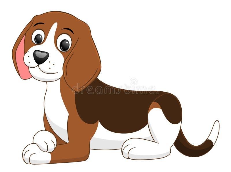 Encontro do cachorrinho dos desenhos animados ilustração stock