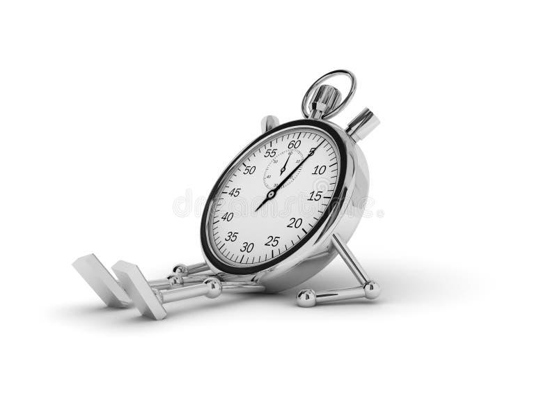 encontro do cronômetro ilustração do vetor