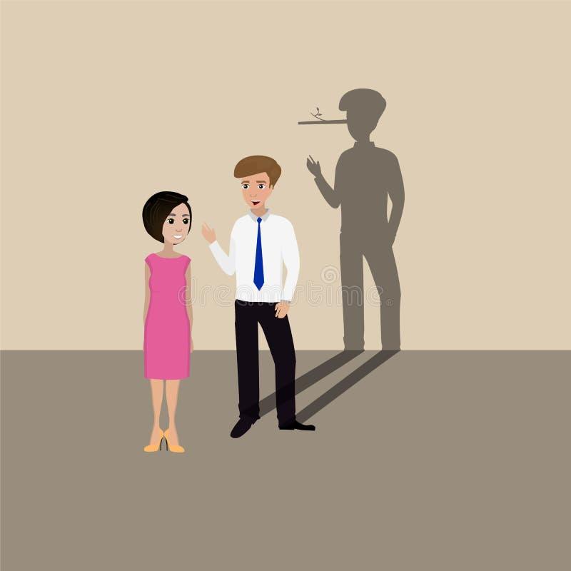 Encontro do homem ilustração royalty free