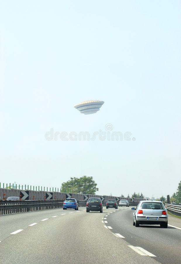Encontro do UFO imagens de stock
