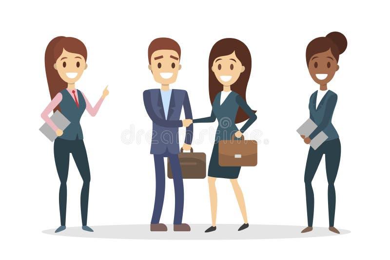 Encontro dos assistentes do negócio ilustração do vetor