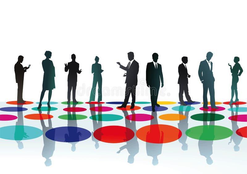 Encontro dos empresários ilustração do vetor