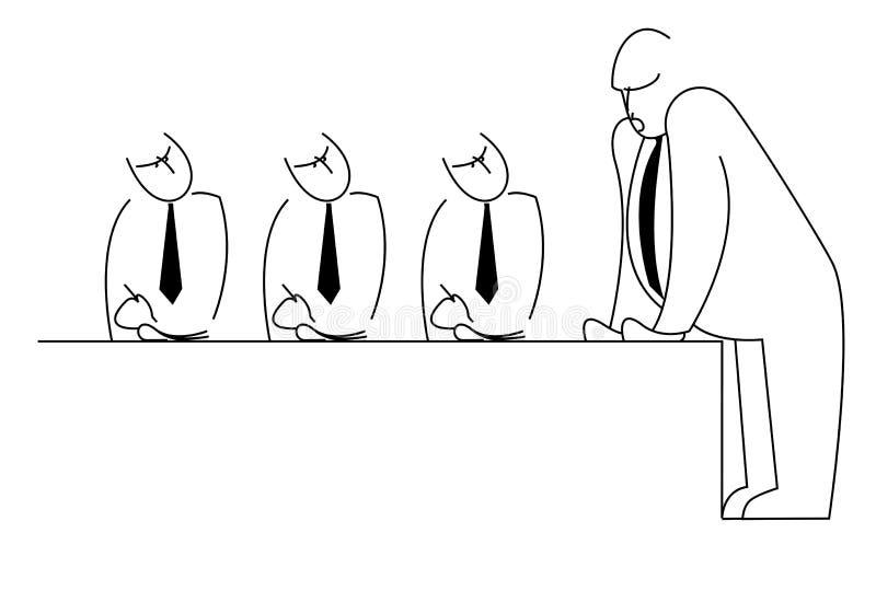 Encontro dos gerentes ilustração royalty free