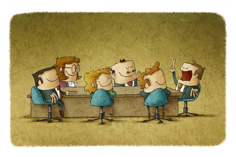 Encontro no escritório ilustração stock