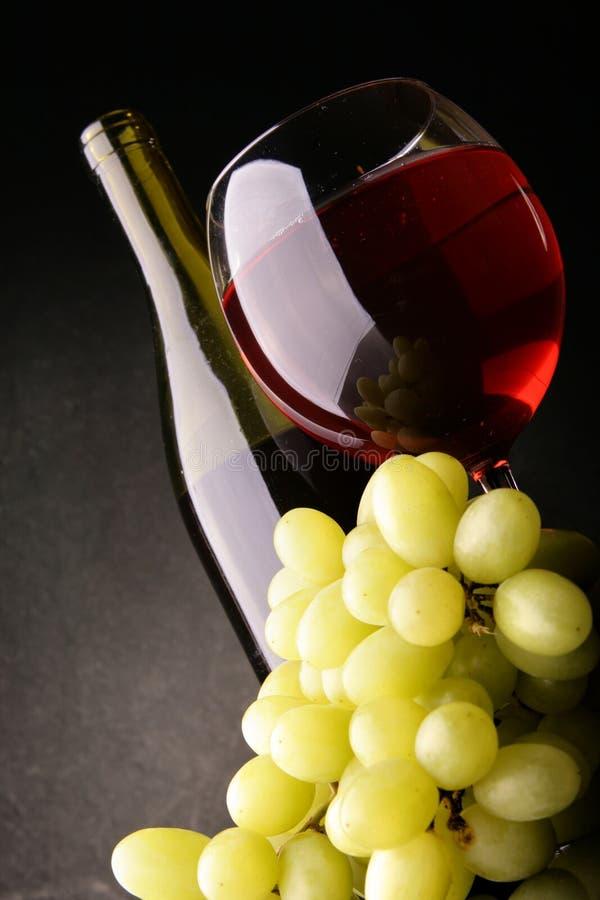Encore-durée avec le vin rouge images libres de droits
