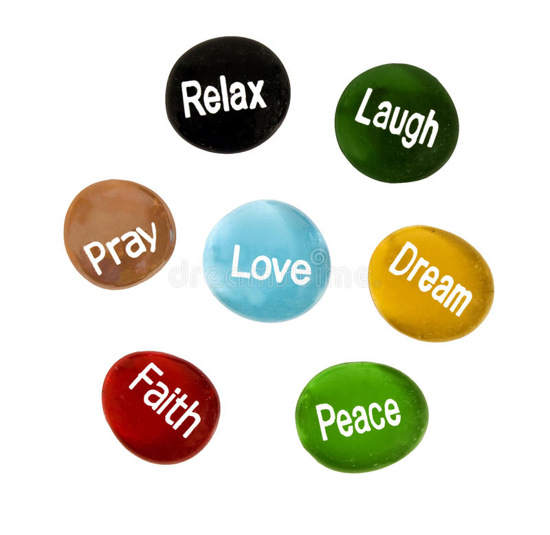 Free Encouragement And Inspirational Stones Royalty Free Stock Image - 47477136