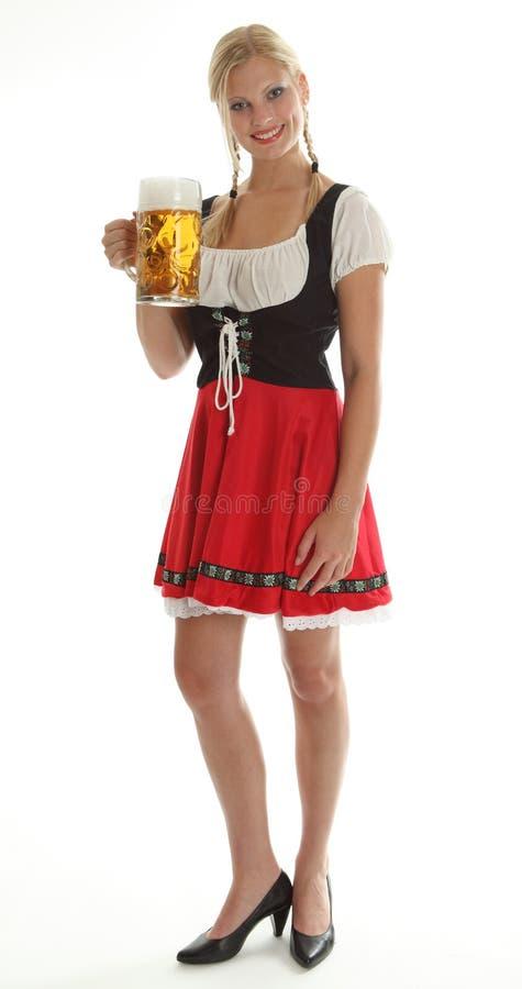 Encourager bavarois de fille images stock