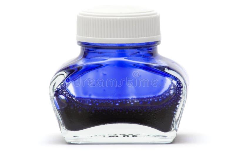 Encre bleue image stock