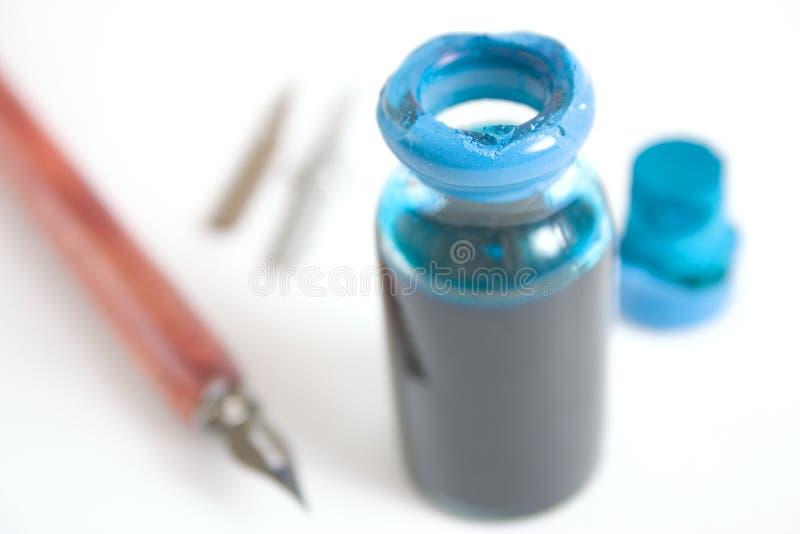 Encre bleue photographie stock libre de droits