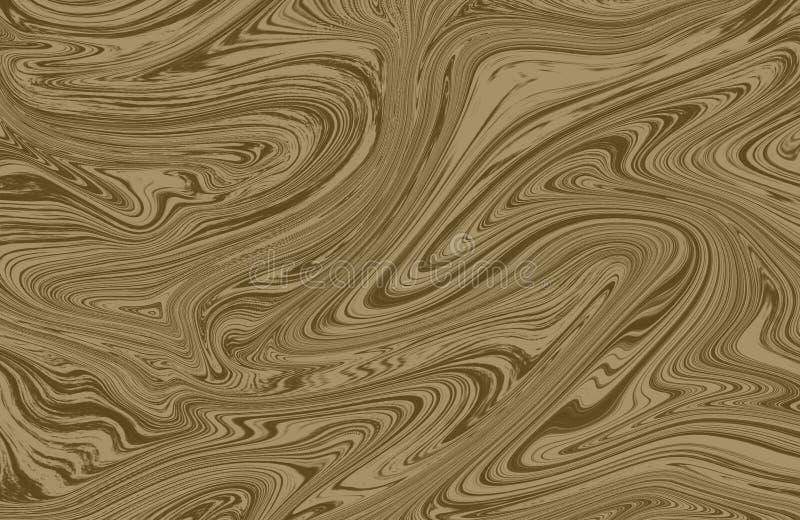Encre de marbre colorée Modèle de marbre multicolore du mélange des courbes illustration de vecteur