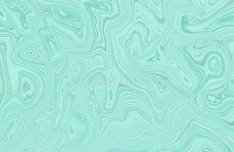 Encre de marbre colorée Modèle de marbre multicolore du mélange des courbes illustration stock