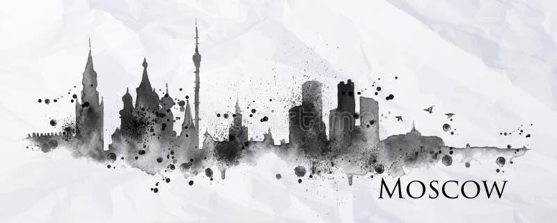 Encre Moscou de silhouette illustration libre de droits