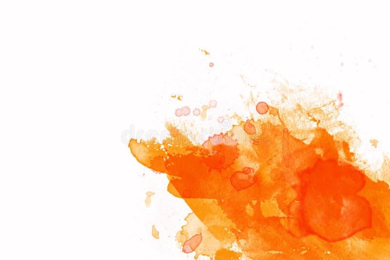 Encre orange illustration de vecteur