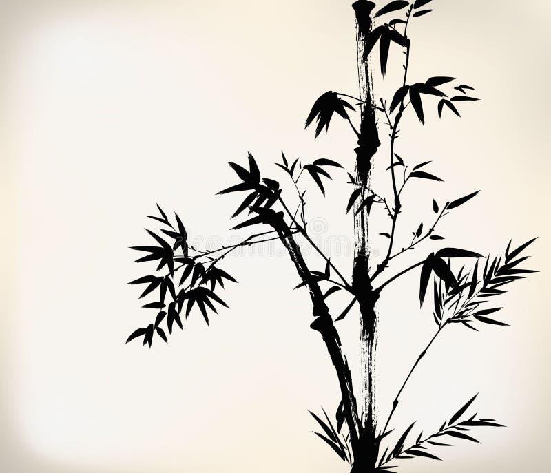 Encre peinte en bambou illustration stock
