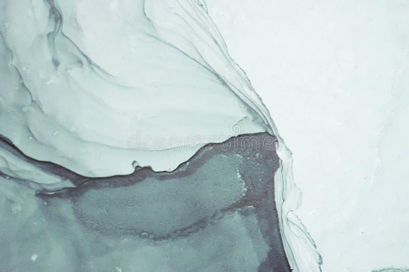 Encre, peinture, abstraite Plan rapproché de la peinture Fond abstrait coloré de peinture peinture à l'huile Haut-texturisée Deta photo libre de droits
