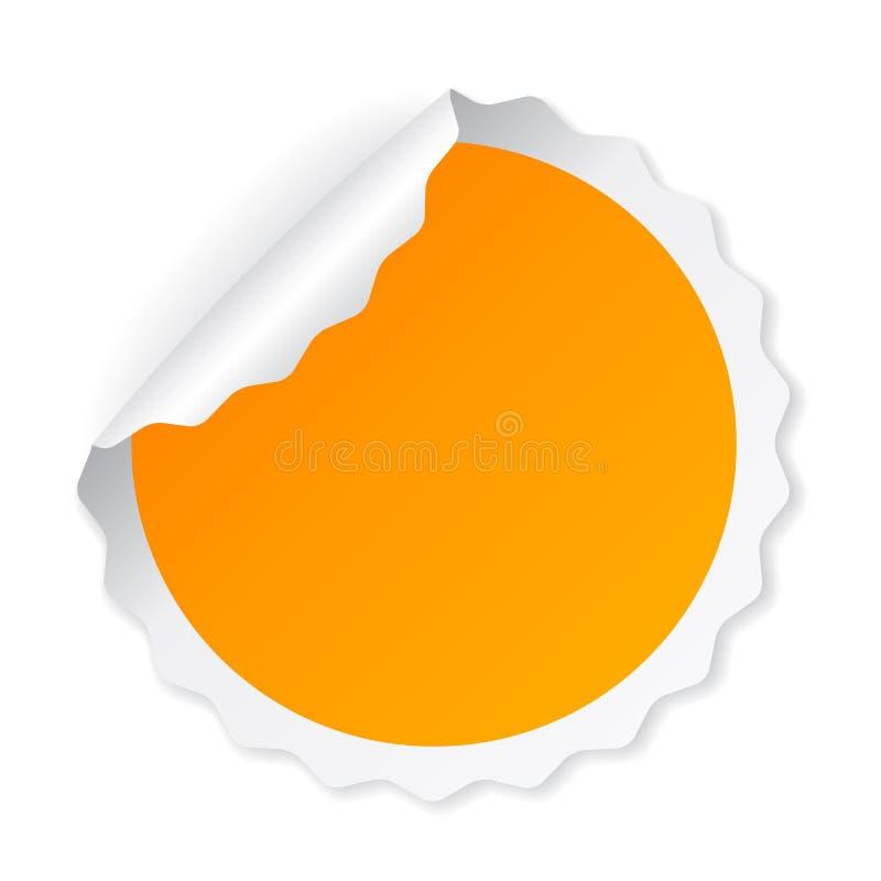 Encrespado alrededor del papel de nota amarillo libre illustration