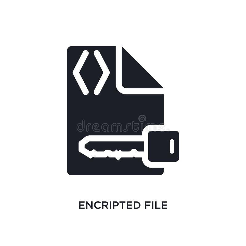 encripted kartoteki odosobniona ikona prosta element ilustracja od programowania pojęcia ikon encripted kartoteka logo znaka edit ilustracji