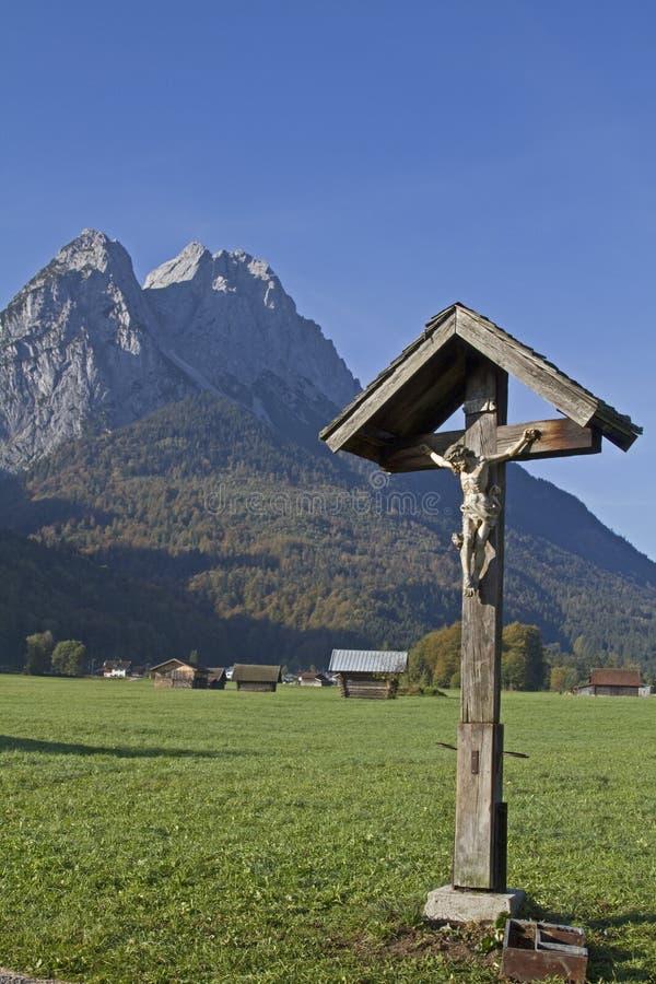Encrucijada en Garmisch imagenes de archivo