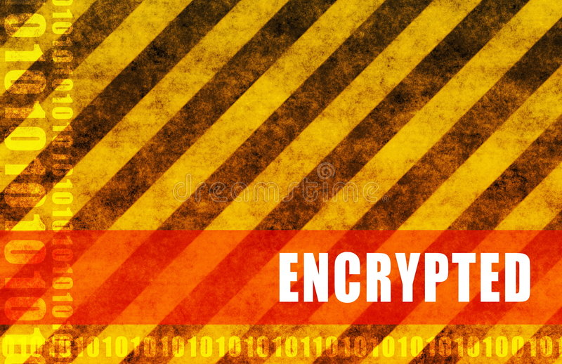 Encrypted stock illustration
