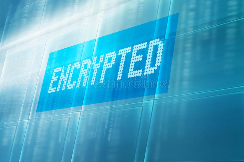 Encrypted text on digital screen concept series royalty free stock image