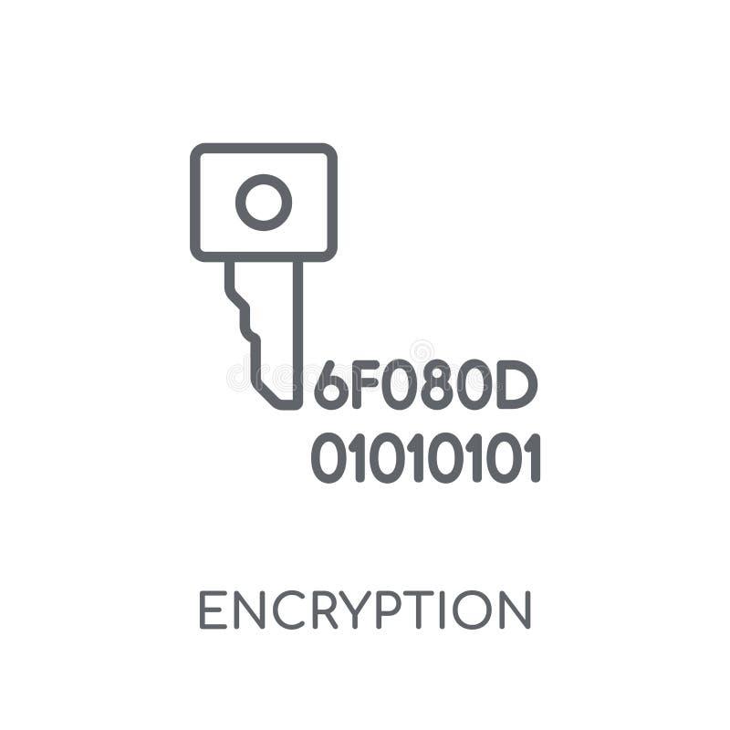 Encryptie lineair pictogram Modern het embleemconcept o van de overzichtsencryptie royalty-vrije illustratie