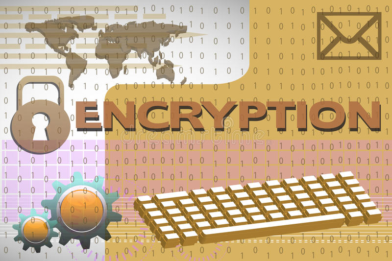 encryption ilustração stock