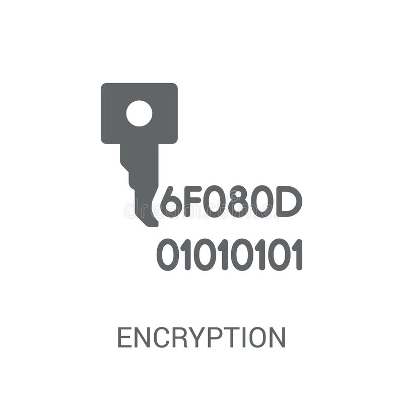 Encryption icon. Trendy Encryption logo concept on white background from Programming collection royalty free illustration