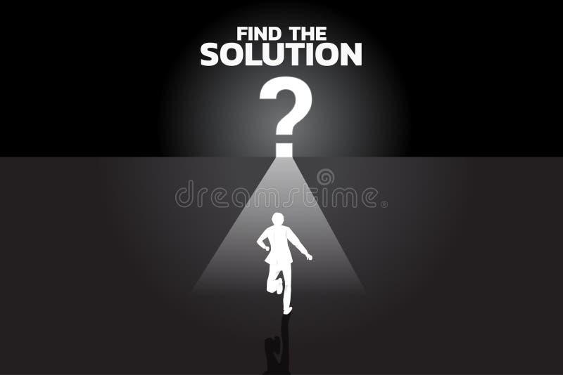 Encuentre el concepto de la solución libre illustration