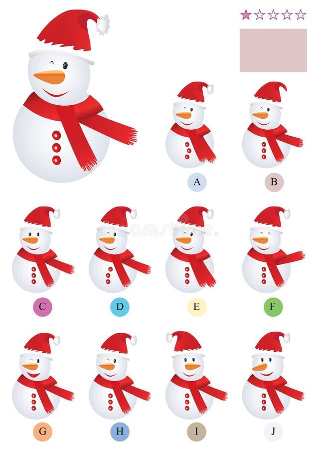 Encuentre el mismo Snowman_eps ilustración del vector