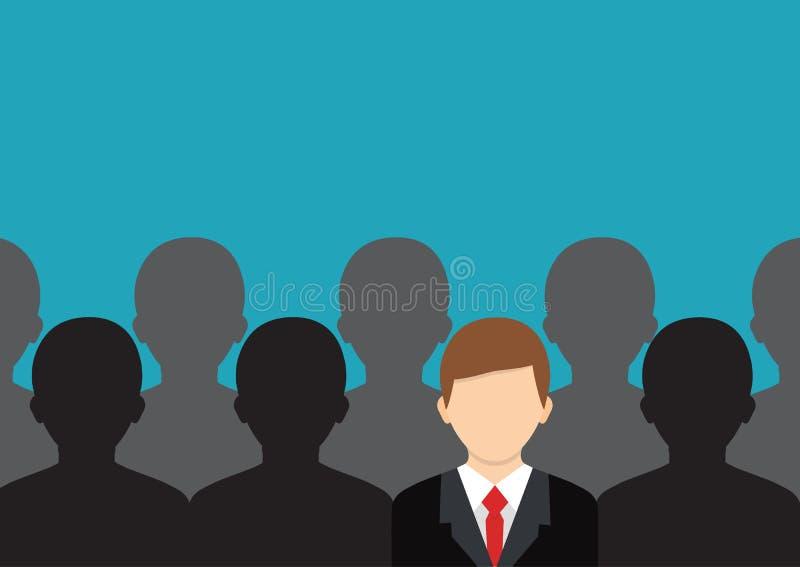 Encuentre a la persona adecuada Concepto de trabajo, recurso humano choosing stock de ilustración