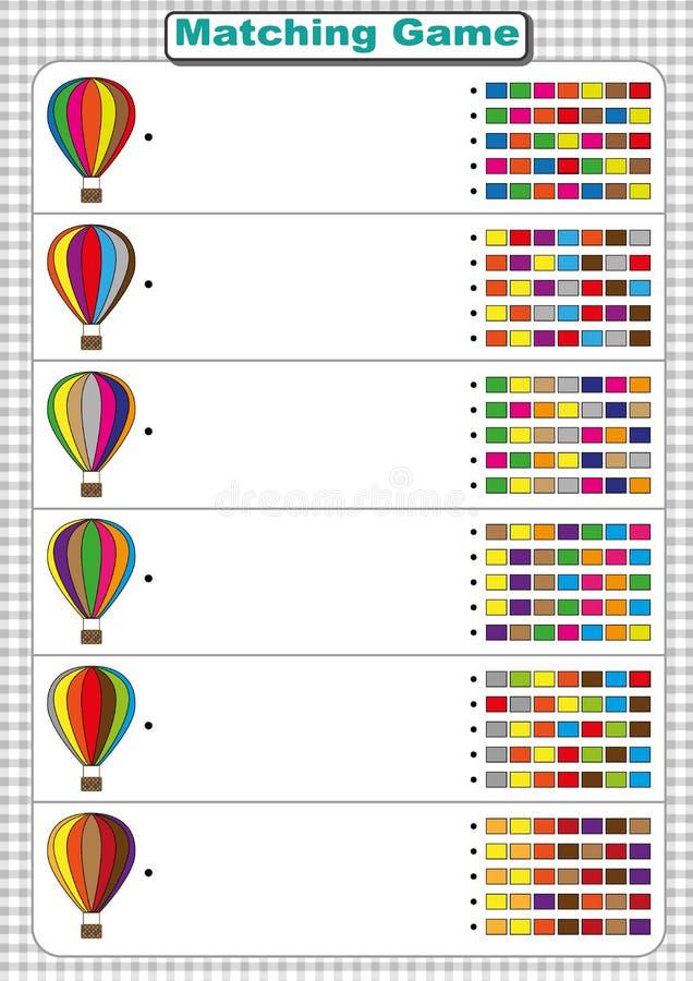 Encuentre La Secuencia Del Color Del Balón De Aire Hoja De Trabajo ...