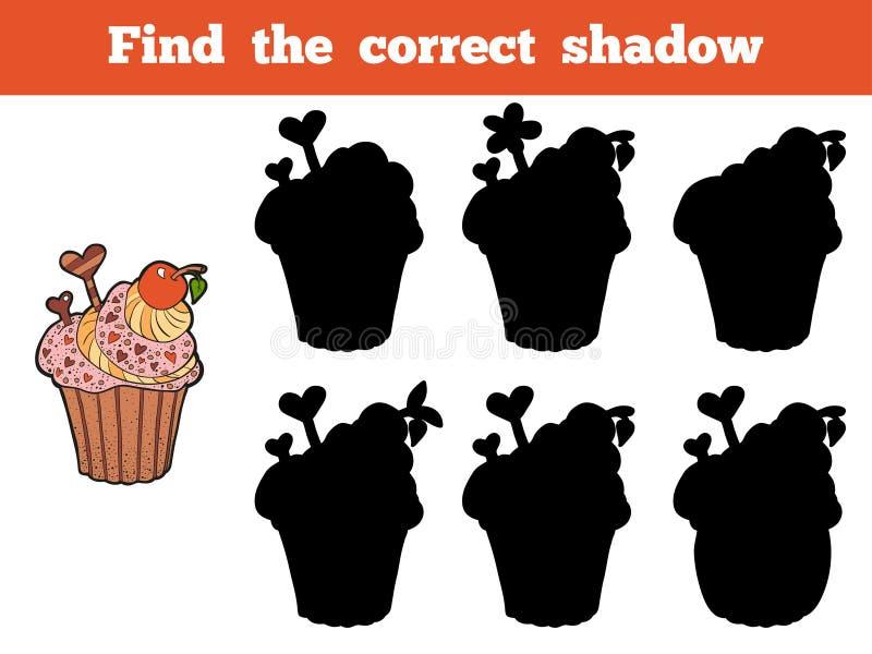 Encuentre la sombra correcta (la magdalena) libre illustration