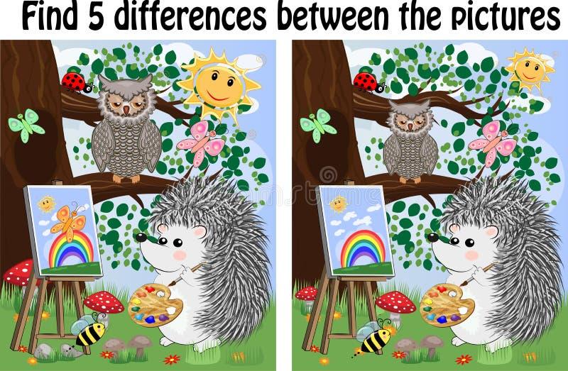 Encuentre las diferencias entre las im?genes Niños \ 'juego educativo de s ilustración del vector