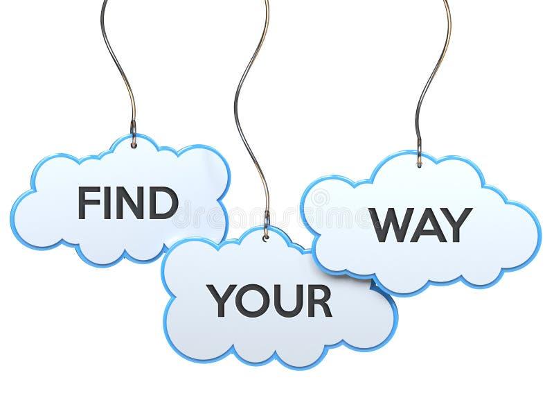 Encuentre su manera en bandera de la nube libre illustration