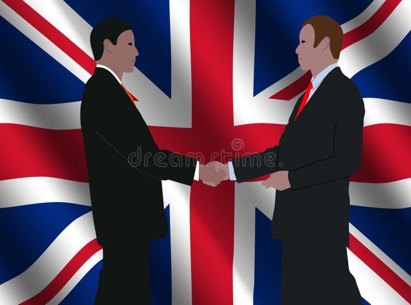 Encuentro británico de los hombres de negocios stock de ilustración