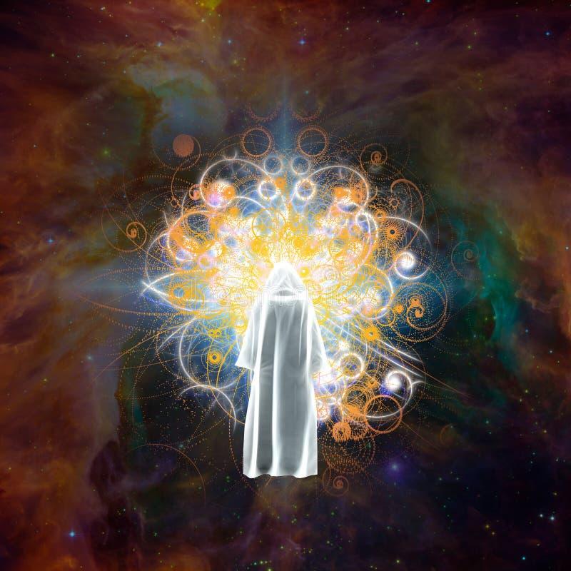 Encuentro con de dios ilustración del vector