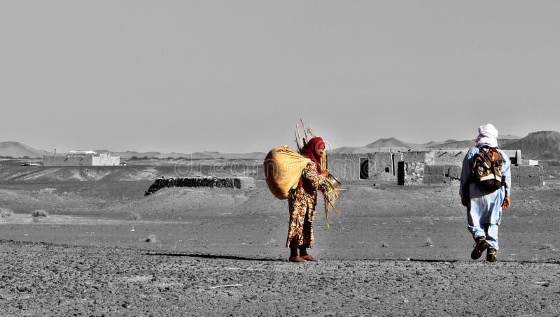 Encuentro en el desierto de África fotografía de archivo