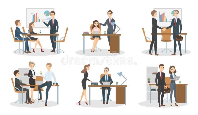 Encuentro en la oficina stock de ilustración