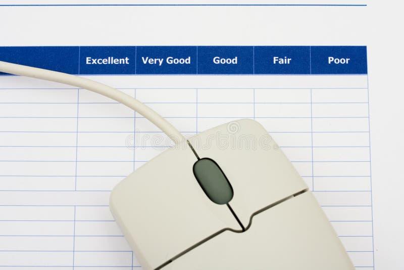 Encuesta en línea imagen de archivo libre de regalías