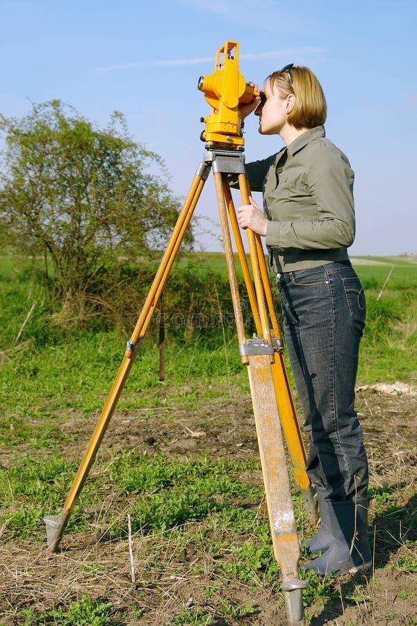 Encuesta geodésica fotografía de archivo
