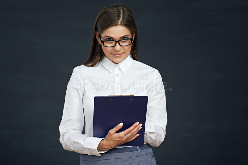 Encuesta sobre pública del empleado la conducta social de la mujer Empresaria con fotos de archivo