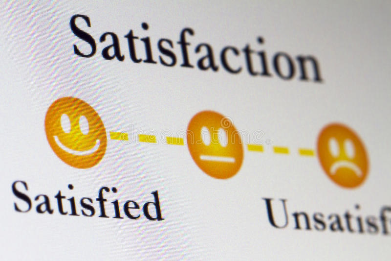 Encuesta sobre Satistfaction imagen de archivo libre de regalías