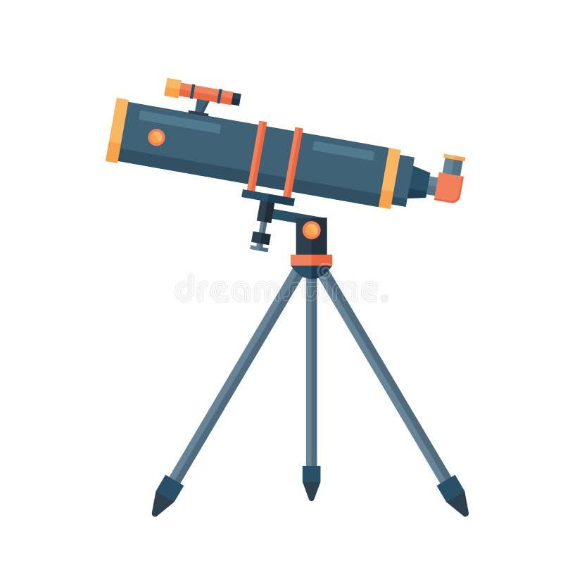 Encurte para a ilustração do vetor do instrumento da descoberta do espaço da ciência da astronomia ilustração stock