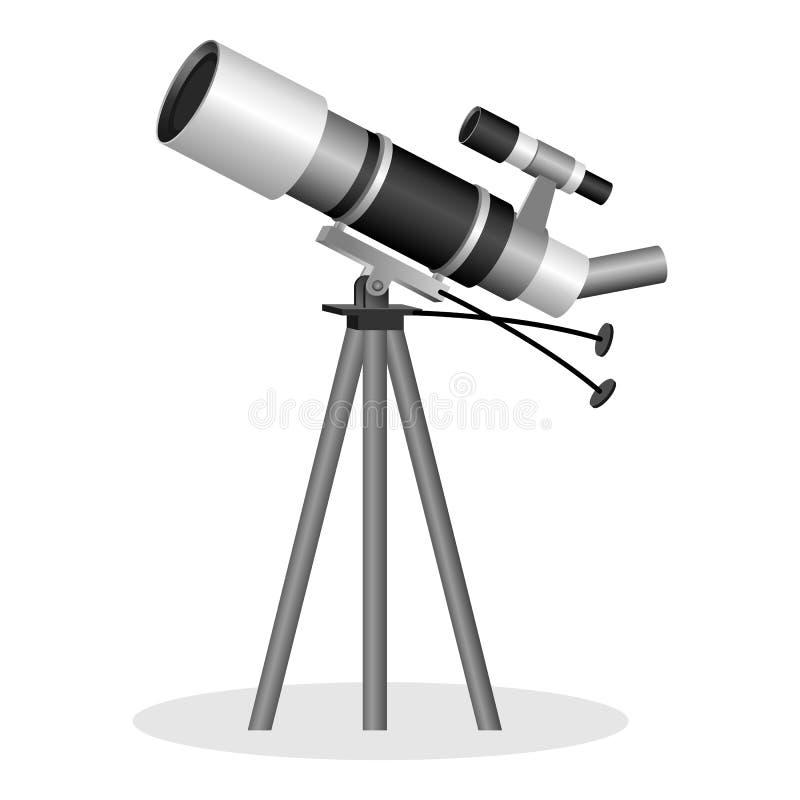 Encurte para observar a ilustração realística do vetor das estrelas Instrumento ótico ilustração stock