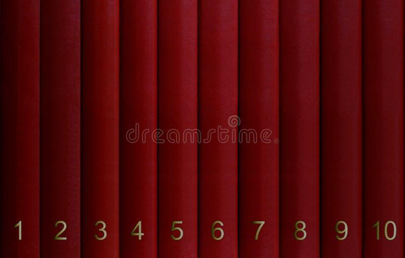 Encyklopedi i volymer som sorteras av nummer arkivfoton